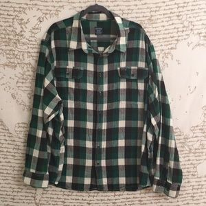 Men's Faded Glory Plaid Button Down Flannel